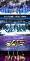 PSD Realistic New Year 2015 inscription by DiZa-74