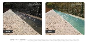 Water Gardens Before and After by Bickhamsarah