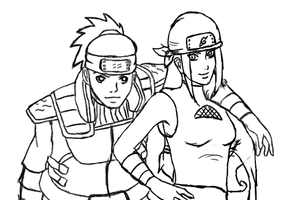 Sketch: Iruka's Parents by LLAP
