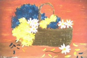 flower basket by hoshi-chii