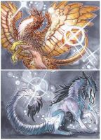 ACEO - Gold and Silver by drachenmagier