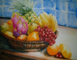Still Life with Fruit by p-e-a-k