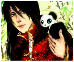 Hetalia China - Bamboo and Panda by AStudyInScarlet