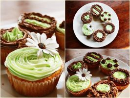 Flower cupcakes by camnhungth