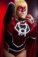 Red Lantern Supergirl, Red daughter of Krypton CVQ by CinVonQuinzel