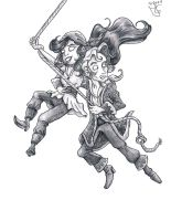 Guybrush and Elaine Threepwood by Tabascofanatikerin