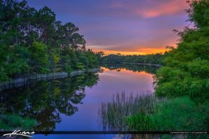 Reflection-and-Colors-Over-Lake-Jupiter-Florida by CaptainKimo