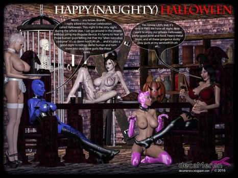 Happy Halloween - Lilith and Brandi private party by decaMeronX