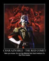 Char Aznable - The Red Comet by Seraph-Leviathan