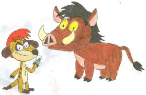 Timon and Pumbaa My Style by SithVampireMaster27