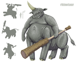 Rhinotaur by FutureDami