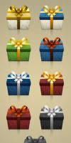 Geschenk Box Icons by FreeIconsFinder