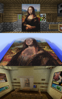 The 'Mona Lisa' of Pixel Art in Minecraft by chickenmobile