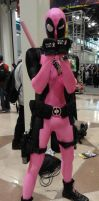 NYCC'12 Pink Deadpool by zer0guard