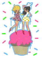 kreayshawn and lil debbie by reyyyyy
