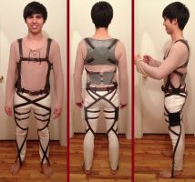 Attack on Titan Eren Belt Harness Progress 3 by FluxTideDesigns