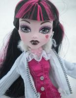 Draculaura in the snow by GothicKitta