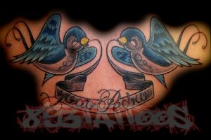 swallows by gil893tattoos