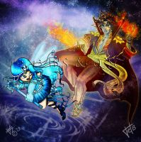 Epic Battle of Epicness by kittyocean