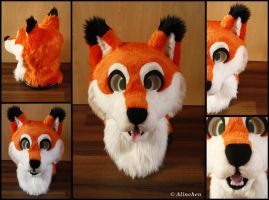 Fox Fursuit Head by Alinchen-Tenny