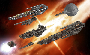 Quarian Fleet for XNA Lara by Melllin