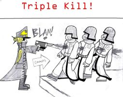 Triple Kill by TheCommissarFangirl