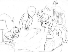 Hope Lullaby Sketch by DJ-black-n-white