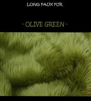 Faux fur fabric - olive green- by LisaToms