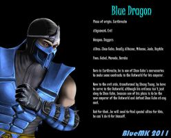 Blue Dragon Versus Pose in MK9 by BlueMK