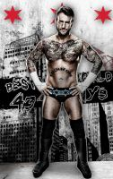 WWE : CM Punk Poster by MarcusMarcel