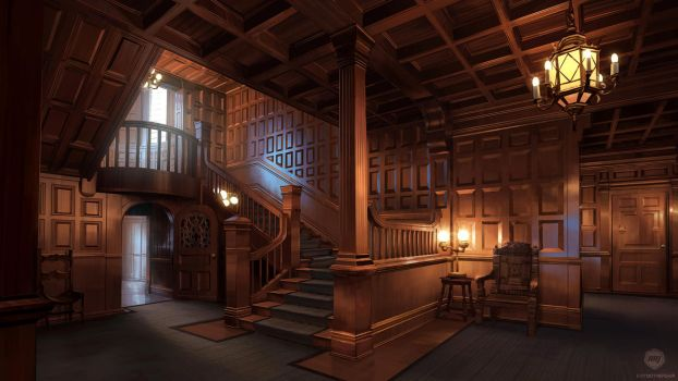 School Mansion Interior (VN Background) by ExitMothership