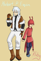 Club Penguin - Herbert and Klutzy [Humanized] by GalaxiasHM