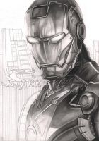 'Iron Man' WIP 60% complete. by Pen-Tacular-Artist