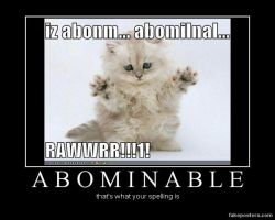 Abominable Snow Kitty by BlackTshirtFan