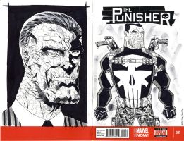 PUNISHER SKETCH COVER by drawhard