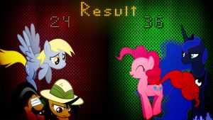 Pony Kombat 3 Round 1, Battle 1 (Result) by Macgrubor