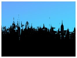 new york skyline by flowersandfire