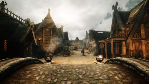 Sunrise at Whiterun by terridol