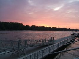 Waterfront Sunset by Ansem87