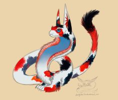 Custom koi fluffy cobra for this-person-adopts by Darkylucifer