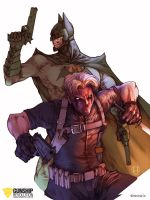 Flashpoint Paradox: Batman and Grifter by GunshipRevolution