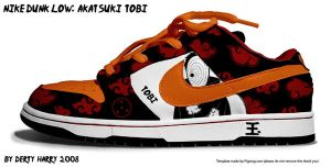 Nike Dunk Low: Akatsuki Tobi by DertyHarry