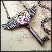 Steampunk Roman God Key by SoulCatcher06