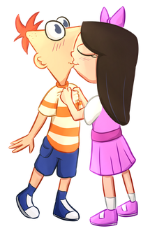 Commission 1/8: Phineas And Isabella by foxhat94