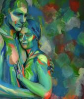 Bodypainting - couple III by mihepu
