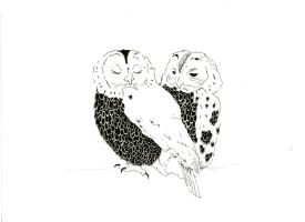 Owls by BirdsOfReverie