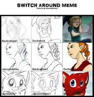 3 Person Switch Around Meme by Jabnormalities