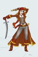 redhead pirate scarlett color by cocodesbois