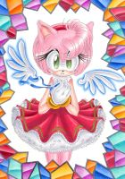 +Amy Rose+ Angel by Leather-lynx
