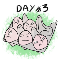 Pokecember Day #3 (favorite grass) - Exeggcute by AmbrosiaDelish